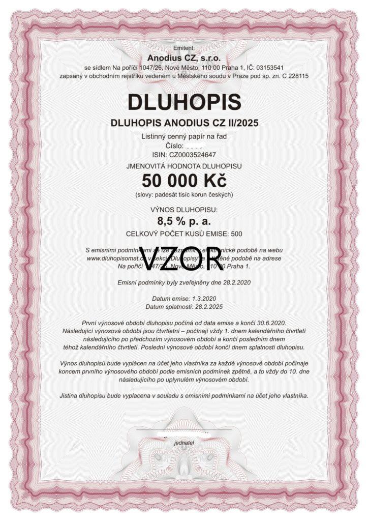 DLUHOPISY ANODIUS CZ II/2025