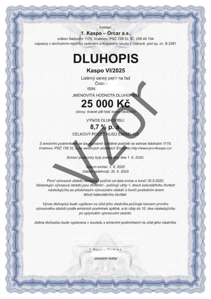 DLUHOPISY KASPO VI/2025