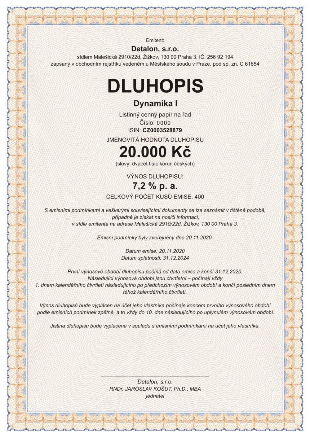 DLUHOPISY DETALON XII/2024